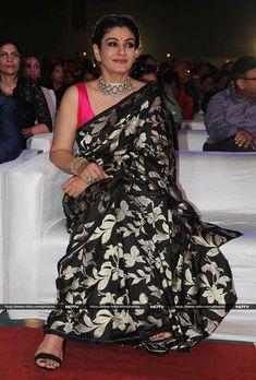 Saree: Raveena Tandon in Black Saree Anarkali, Lehenga, Churidar, Sabyasachi, Indian Beauty Saree, Indian Sarees, Indian Dresses, Indian Outfits, Indian Clothes