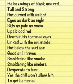 This is a poem I made today about someone