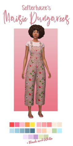 Softerhaze's Maisie dungarees recolors at Deeliteful Simmer - DecoTips Sims 4 Mm Cc, Sims Four, My Sims, Maxis, Sims 4 Mods Clothes, Sims 4 Clothing, Vêtement Harris Tweed, Pelo Sims, The Sims 4 Packs