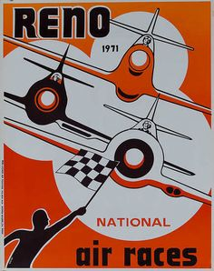 DP Vintage Posters - Original 1971 Reno Air Race Poster