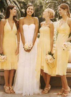 Yellow mismatched dresses :)