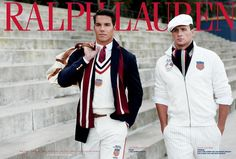 US Olympic athletes rower Giuseppe Lanzone (L) and swimmer Ryan Lochte are pictured wearing the 2012 US Olympic team uniforms, made by Ralph Lauren. Ralph Lauren Olympics, Polo Ralph Lauren, Preppy Men, Preppy Style, My Style, Preppy Family, Style Men, Olympic Athletes, Olympic Team