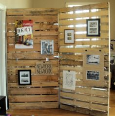 could use this idea to string jute and attach photos with clothespins!