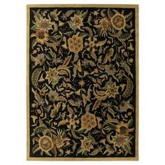 St. Croix Trading Pt32 Traditions Paradise Area Rug, Black