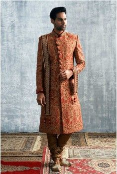 Click to see it up close. A fine Sherwani for Rs.29,999/- #Weddings #CelebrationWear #Royal #Elegant #Manyavar