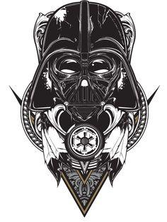 Tribal Vader  Star Wars fan art