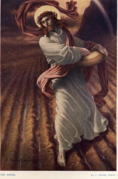 Victorian Public Domain Images Catholic Christian Graphics From Chant Art and Archival Art.  Painting: The Sower by T. Noyes Lewis