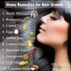 Natural remedies for hair growth faster