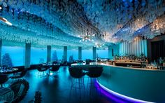 Eat in one of the underwater restaurants of the Maldives