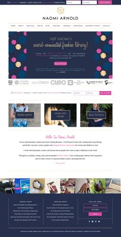 Naomi Arnold's professional coaching site running on Station Seven's Parker theme is perfect!