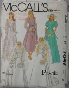 McCalls 7847 Vintage 80s Bridal Wedding Dress by omasbricabrac, $9.95