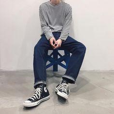 "Reposting @garioooo: ... ""- 準備完了しました 明日は @attempt_kyoto @attempt_kyoto_ladies にて、沢山のご来店お待ちしております。 注意事項等は、ストーリーでご確認下さい! - #gariootd #ETHOS #yaeca #converse #mn_mnfc"" Menswear mode style fashion outfit ootd clothing streetstyle tenue homme"