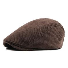 High Quality Autumn Winter Men Hats Berets British Western Style Wool Cap New