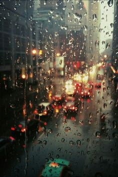 "Rain on the window…..OH WHAT A COLORFUL, SOFT RAIN……THANK YOU ""GOD JUPITER""…. SENDER OF THE RAINS""………ccp"