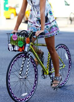 Ode to the stylish bike rider. We're excited for the weather to warm up and to see all the cool kids sporting their bicycles.  Don't have a bike? We have some very affordable and cool colored bikes up now.  1 / 2 / 3 / 4 / 5 / 6 / 7 / 8 / 9 / 10  For more bike inspiration, follow our bike, music, games board.