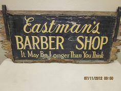 Barber shop sign.