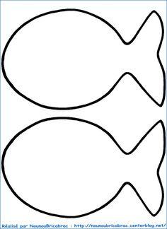Poisson d 'Avril . in Farbe und Dekor! Sea Crafts, Fish Crafts, Preschool Crafts, Crafts For Kids, Arts And Crafts, Fish Cut Outs, Sewing Crafts, Sewing Projects, Fish Template
