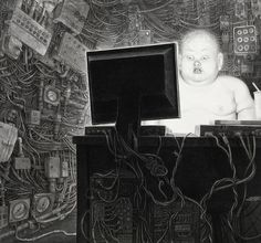 Su trabajo minucioso y en el que recurre a la alegoría, acerca la muerte a la vida a modo de vanitas. Son obras dramáticas, intensas e inclusive tenebrosas.
