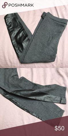 Splendid Terry and Vegan Leather Leggings Splendid Terry and Vegan Leather Leggings Splendid Pants Leggings