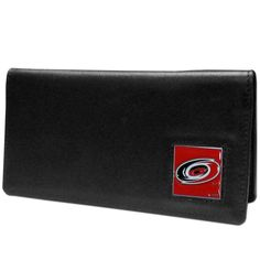 """Checkout our #LicensedGear products FREE SHIPPING + 10% OFF Coupon Code """"Official"""" Carolina Hurricanes Leather Checkbook Cover - Officially licensed NHL product Genuine fine grain leather Fits top and side loaded checkbooks Plastic sleeve for duplicate check writing Metal Carolina Hurricanes emblem with enameled team colors - Price: $22.00. Buy now at https://officiallylicensedgear.com/carolina-hurricanes-leather-checkbook-cover-hnc135bx"""