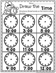 Money Worksheets - Planning Playtime : Looking for fun math centers and time and money worksheets? This set is filled with hands-on math activities to practice coin recognition, value of money and telling time. Money Worksheets, Kindergarten Math Activities, Kindergarten Math Worksheets, School Worksheets, Homeschool Math, Worksheets For Kids, Telling Time Activities, Teaching Time, Teaching Math