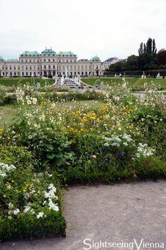 Palace garden upper belvedere vienna