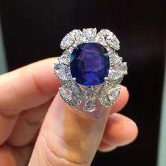 QIU Fine Jewelry -Chaoqiu He (@qiuqiu_he) on Instagram: The best thing happening so far in 2017! The newest creation from QIU Fine Jewelry, 8.5 carats Burma no heat Royal blue sapphire ring.