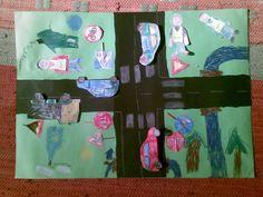 Vihreälle kartongille kuva liikenteestä. Toteutus ja valmiit kuvat Taika -lehdestä. Science Art, Science And Nature, Education, Natural, Painting, Painting Art, Paintings, Science And Nature Books, Onderwijs