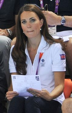 Pin for Later: These Are the Earrings That Kate Middleton Wears With Everything August 2012 Watching synchronized swimming during the Olympics.