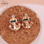 Stud Earrings Diomedes Gussy Life Cute and Elegant Wholesale Diomedes Brincos Women Crystal Rhinestone Earrings Gift Drop Rhinestone Earrings, Crystal Rhinestone, Women's Earrings, Fashion Earrings Online, Anchor Earrings, Sailor Fashion, Fashion Fashion, Gold Accessories, Sweet Style