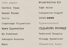 Typewriterhand