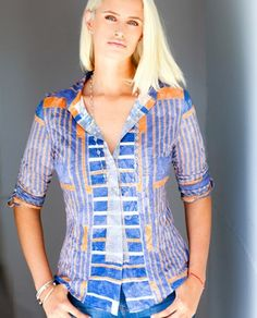 612fe53f135 David Cline 2350 Crushed Shirt Geomentric Print   The Clothing Cove  Brighton, Fashion Outfits,
