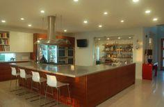 modern-kitchen-design metal counter