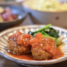 トマトソースハンバーグ  |  あさこ食堂