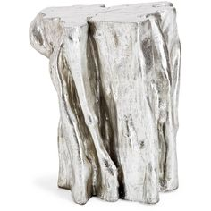 Origin Textured Silver Leaf Side Table ($395) ❤ liked on Polyvore featuring home, furniture, tables, accent tables, table, fillers, silver leaf furniture and silver leaf table
