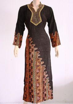 Gamis Kombinasi Batik Modern