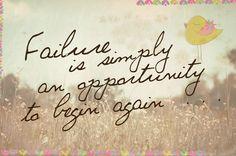 Si tropiezas y te caes, solo tienes que volver a levantarte. Los fallos son la oportunidad perfecta para empezar de nuevo! #mensajepositivo