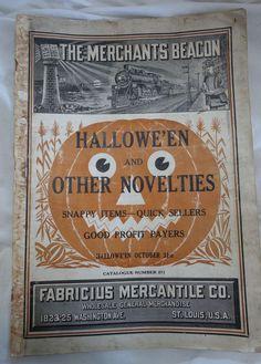 1920s Fabricius Mercantile Halloween Novelty Catalog. #vintage #antique #Halloween