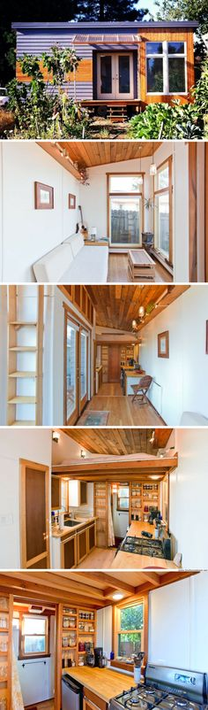 Modern-rustic tiny home available for rent in Portland, Oregon!