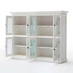 Novasolo Halifax Pantry Closet White - This NovaSolo Halifax Pantry is our widest stretching pantry closet that begs to house all of your essentials including, recipe books, cookware, dishes, and more. Pantry Cupboard, Pantry Closet, Kitchen Pantry, Kitchen Storage, Locker Storage, Pantry Cabinets, Big Kitchen, Wooden Kitchen, Bed In Closet
