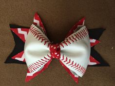 Hey, I found this really awesome Etsy listing at https://www.etsy.com/listing/184675613/6-12-inch-baseball-bow