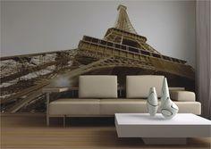 Fototapete Tapete Paris Eiffelturm Frankreich Sepia Foto 360 cm x 254 cm