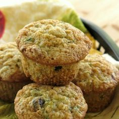 These zucchini muffins got a makeover by swapping out ingredients, like Greek yogurt for oil. But, you won't miss a thing!