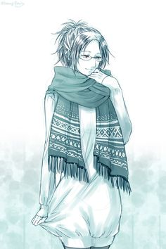 """""""Hehe am I... Smiling? That's a first. I'm just happy to know things will be just fine even if it does get a little crazy..."""" She smiled, looking at the ground as she covered her mouth with the scarf."""