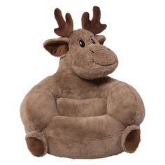 Shop for Trend Lab Children's Plush Moose Character Chair. Get free delivery at Overstock - Your Online Nursery Decor Shop! Get in rewards with Club O! Baby Boy Rooms, Baby Boy Nurseries, Baby Room, Boy Nursey, Toddler Rooms, Kids Rooms, Moose Nursery, Woodland Nursery, Woodland Baby