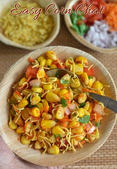 Corn Chaat Recipe Easy Chaat Recipes is part of Chaat recipe Corn Chaat is one of the easy chaat recipes that I have tried recently Do you have a craving for a chaat, here is the instant chaat that - Indian Salads, Indian Appetizers, Easy Indian Snacks, Party Appetizers, Easy Snacks, Veg Salad Recipes, Vegetarian Recipes, Canapes Recipes, Snack Recipes