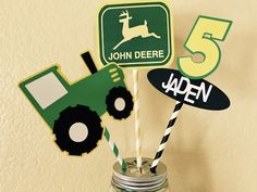 Farm Tractor Centerpiece for Party or Home by SunshineMommie
