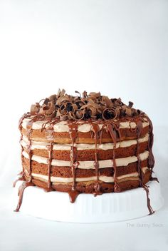 Chocolate Nutella Torte Layer Cake