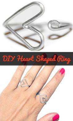 DIY heart-shaped ring! College style at its simplest.  #DIYcollege #collegestyle