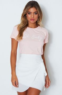Oh Baby Tee Pink